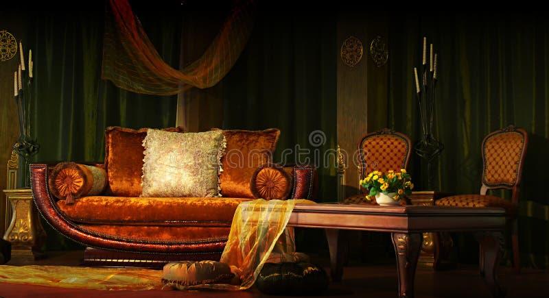Het binnenland van de luxe royalty-vrije stock afbeelding