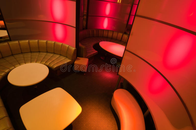 Het binnenland van de nachtclub royalty-vrije stock afbeelding
