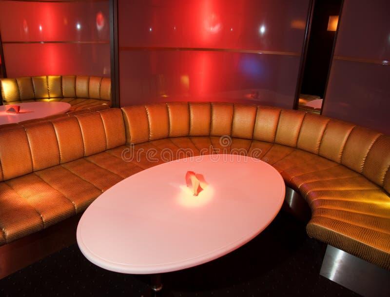 Het binnenland van de nachtclub stock foto