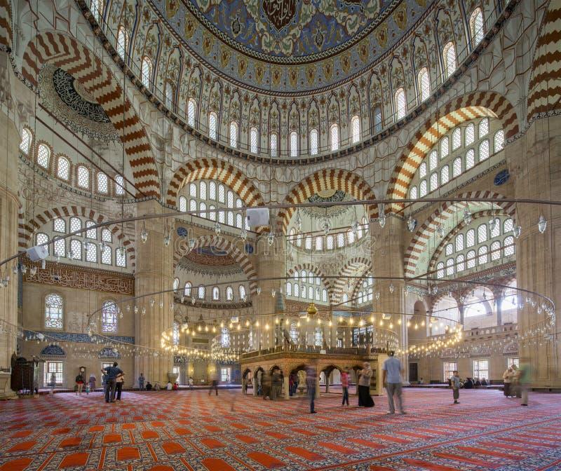 Het Binnenland van de Selimiyemoskee royalty-vrije stock foto