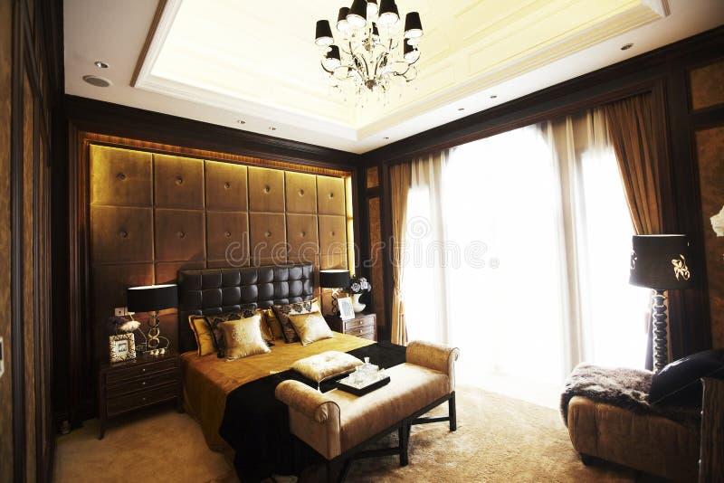 Het binnenland van de slaapkamer stock afbeeldingen