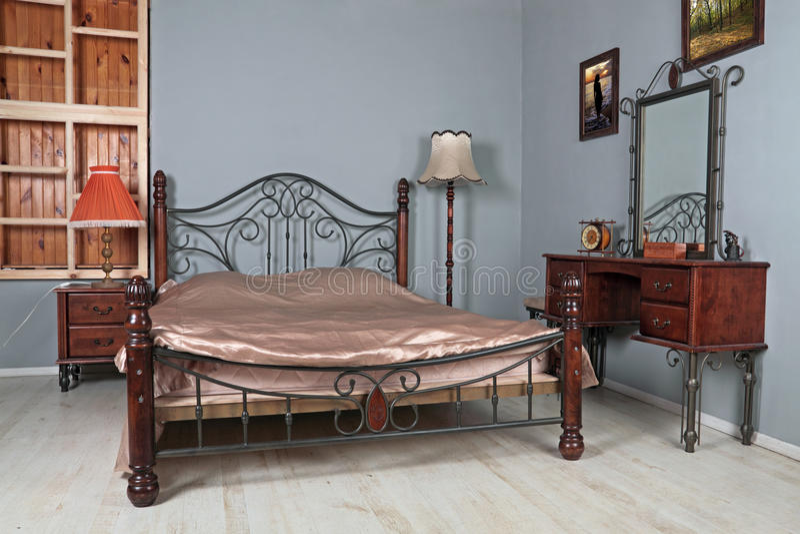 Het binnenland van de slaapkamer royalty-vrije stock foto's