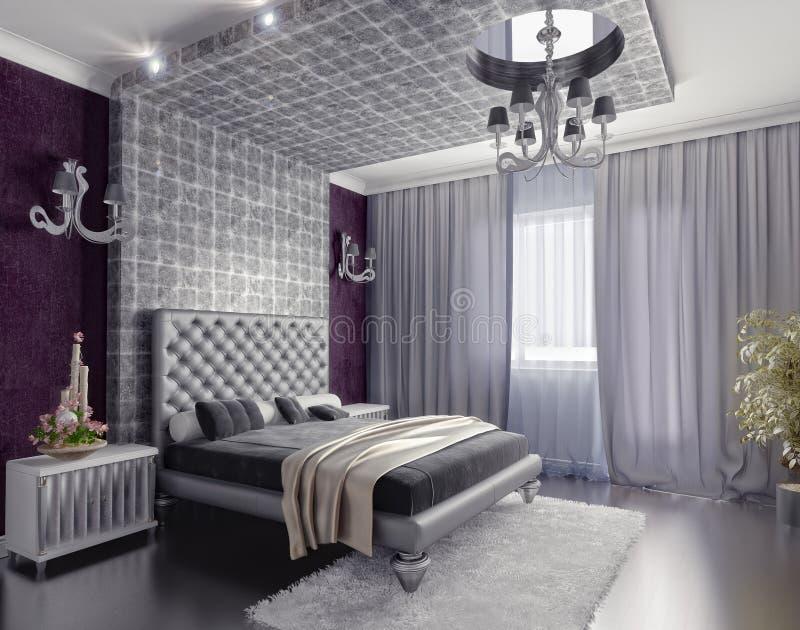 Het binnenland van de slaapkamer vector illustratie