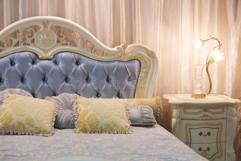 Het Binnenland van de slaapkamer stock foto