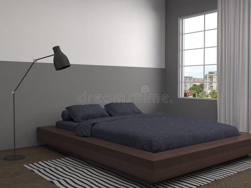 Het Binnenland van de slaapkamer 3D Illustratie royalty-vrije illustratie