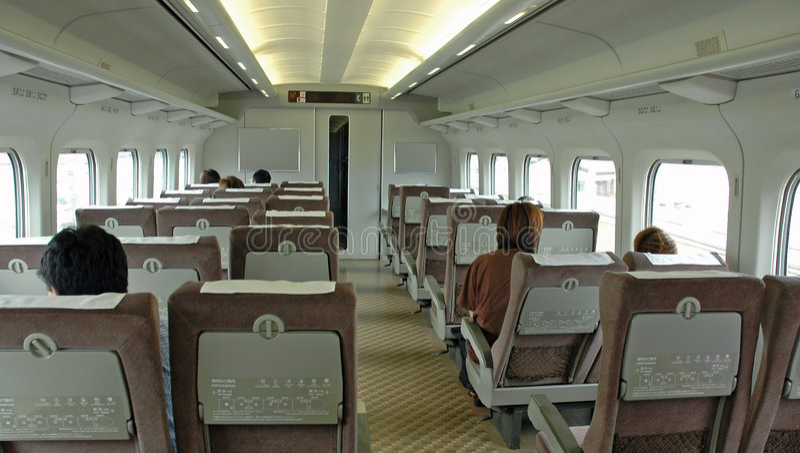 Het Binnenland van de trein stock fotografie