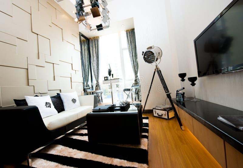 Het binnenland van de woonkamer stock fotografie