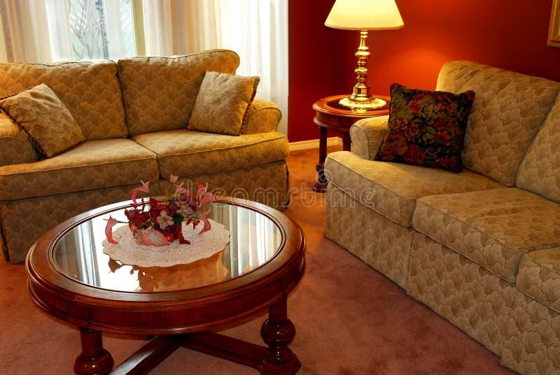 Het binnenland van de woonkamer royalty-vrije stock afbeelding