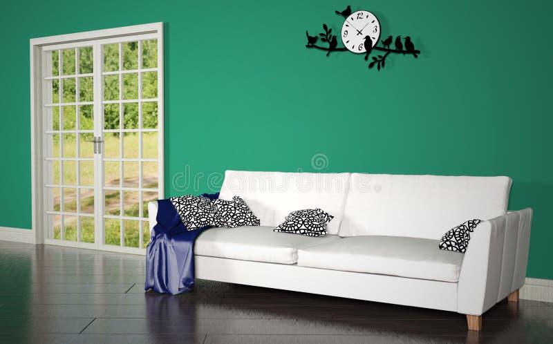 Het binnenland van de woonkamer stock illustratie
