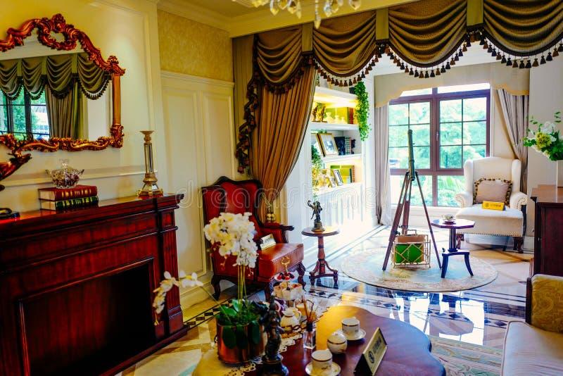 Het binnenland van de woonkamer royalty-vrije stock foto's