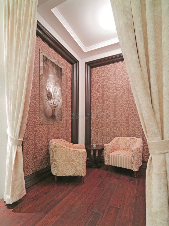 Het binnenland van de zaal stock fotografie