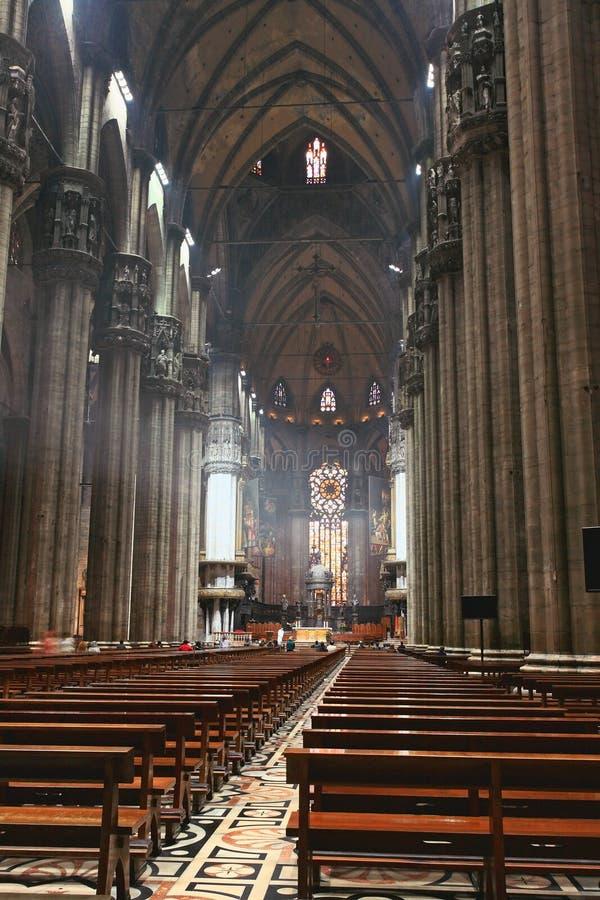 Het binnenland van Duomo Milaan royalty-vrije stock fotografie