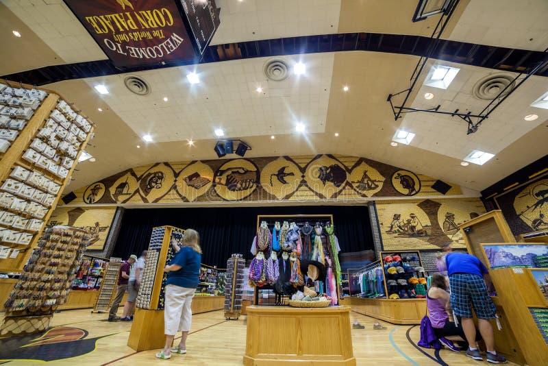 Het Binnenland van het graanpaleis, Mitchell, Zuid-Dakota royalty-vrije stock fotografie