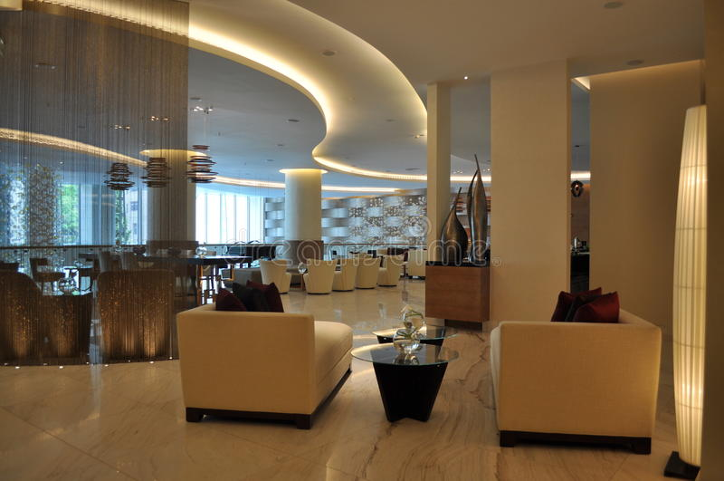Het binnenland van het hotel royalty-vrije stock afbeeldingen