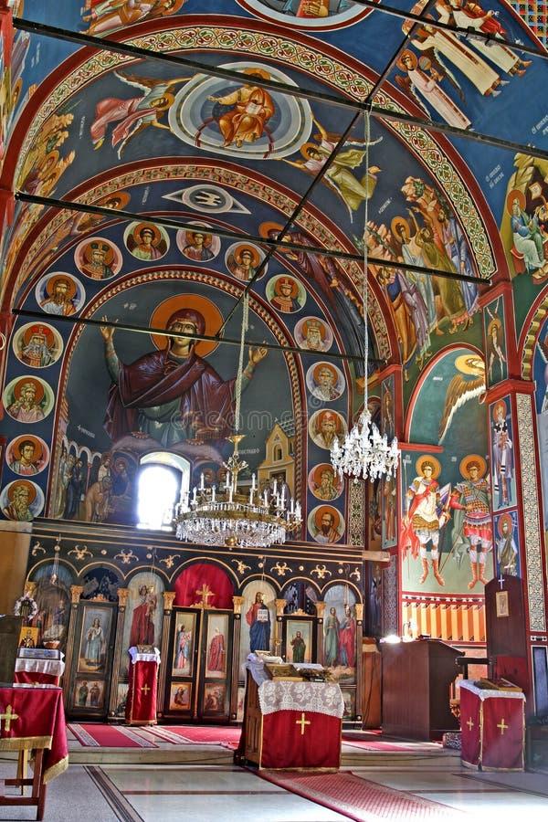 Het binnenland van het klooster stock afbeeldingen