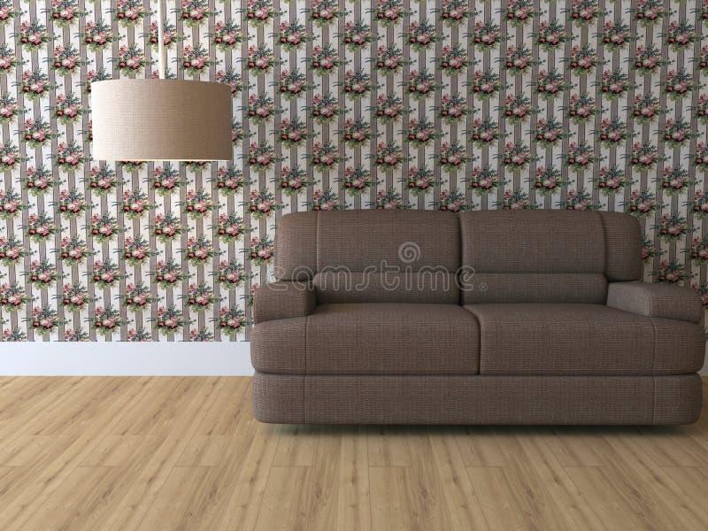 Het binnenland van het ontwerp van elegantie moderne woonkamer vector illustratie
