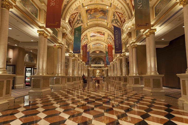 Het Binnenland van het Palazzohotel in Las Vegas, NV op 02 Augustus, 2013 royalty-vrije stock foto's