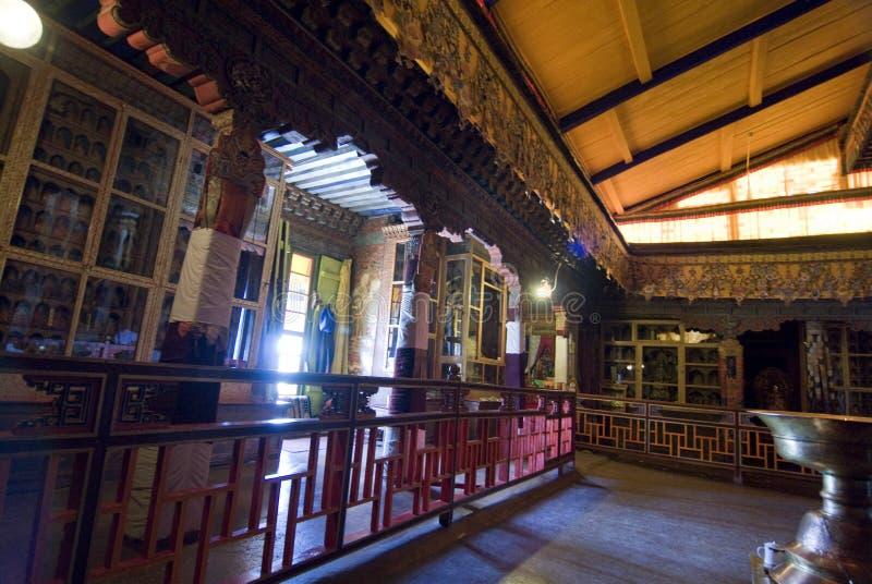 Het binnenland van het Paleis van Potala stock fotografie