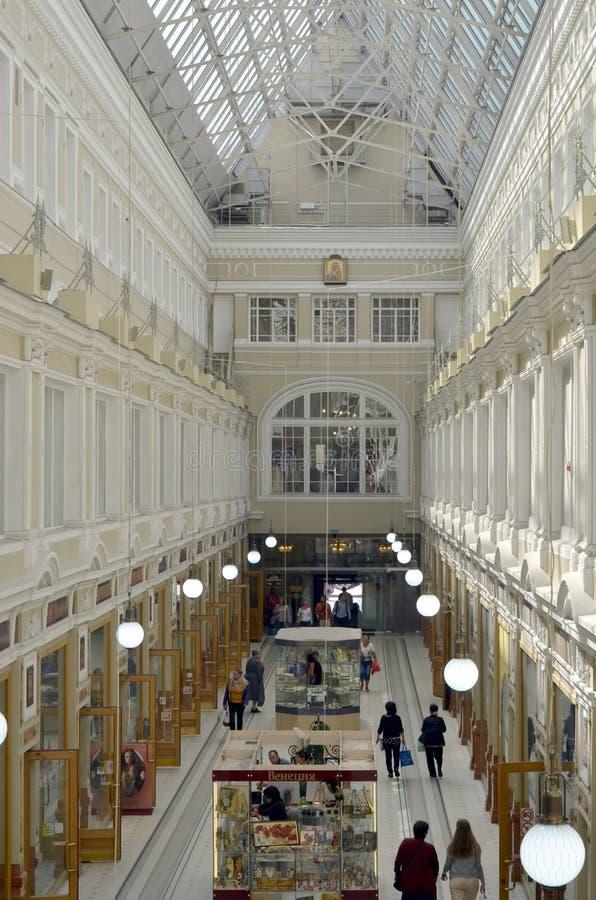 Het binnenland van het Passagewinkelcomplex royalty-vrije stock afbeeldingen
