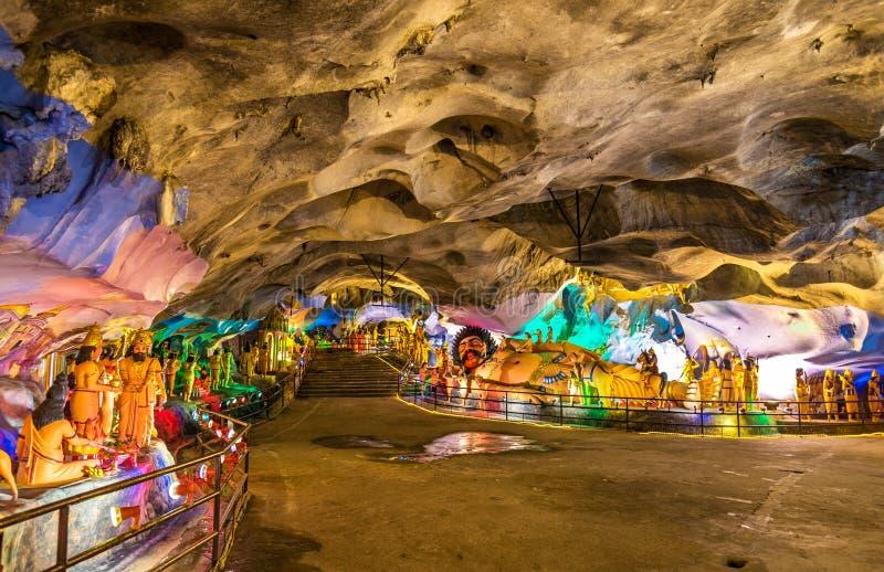 Het binnenland van het Ramayana-Hol in Batu holt complex, Kuala Lumpur, Maleisië uit stock afbeeldingen