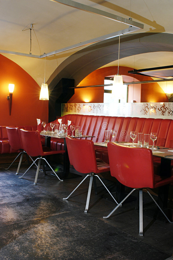 Het binnenland van het restaurant royalty-vrije stock foto's