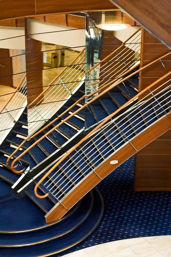 Het binnenland van het schip van de cruise stock foto's