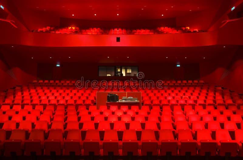 Het binnenland van het theater stock afbeelding