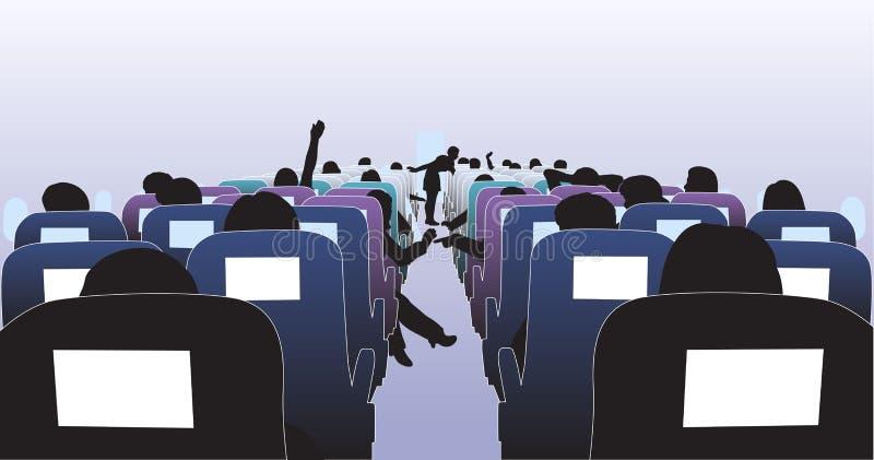 Het binnenland van het vliegtuig stock illustratie