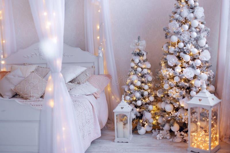 Het binnenland van het Kerstmishuis stock fotografie