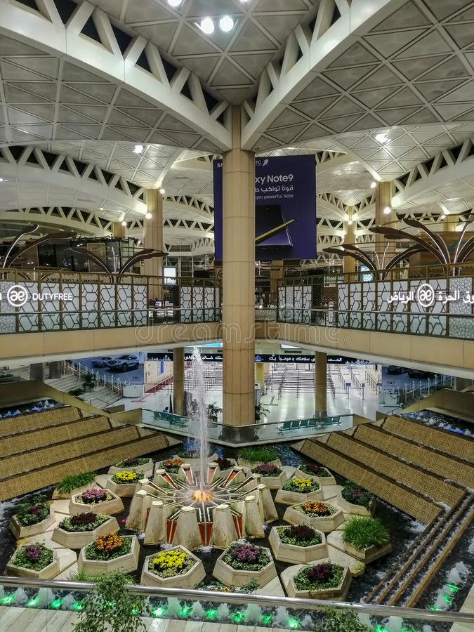 Het binnenland van koningshaled international airport royalty-vrije stock fotografie