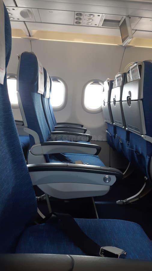 Het binnenland van het luchtvliegtuig stock foto