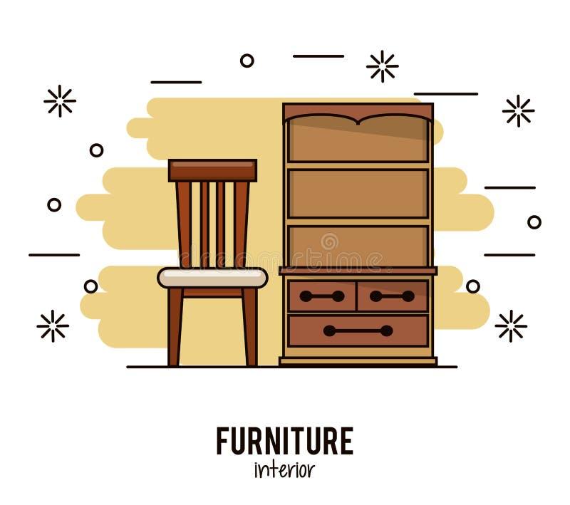 Het binnenland van het meubilairhuis stock illustratie