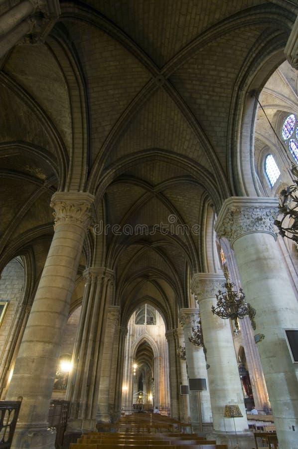 Het Binnenland van Notre Dame stock afbeeldingen