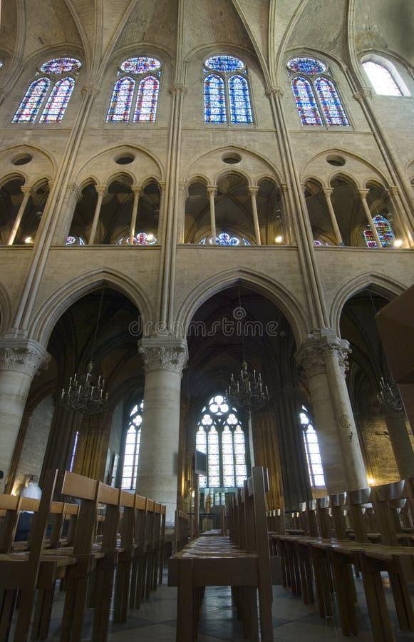 Het Binnenland van Notre Dame royalty-vrije stock foto