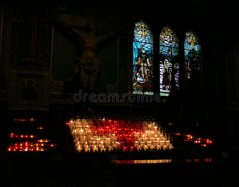 Het Binnenland van Notre Dame, Montreal stock afbeeldingen
