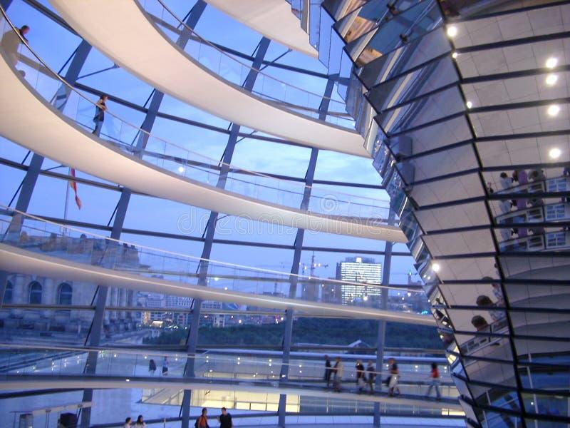 Het Binnenland van Reichstag royalty-vrije stock foto