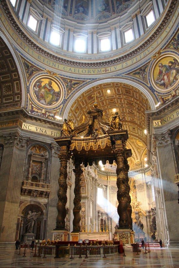 Het binnenland van Rome, Vatikaan, Italië stock afbeelding