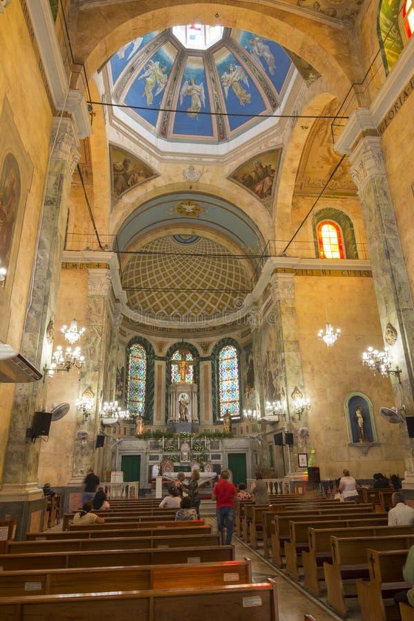 Het binnenland van San Sebastian Church in Manaus royalty-vrije stock afbeeldingen