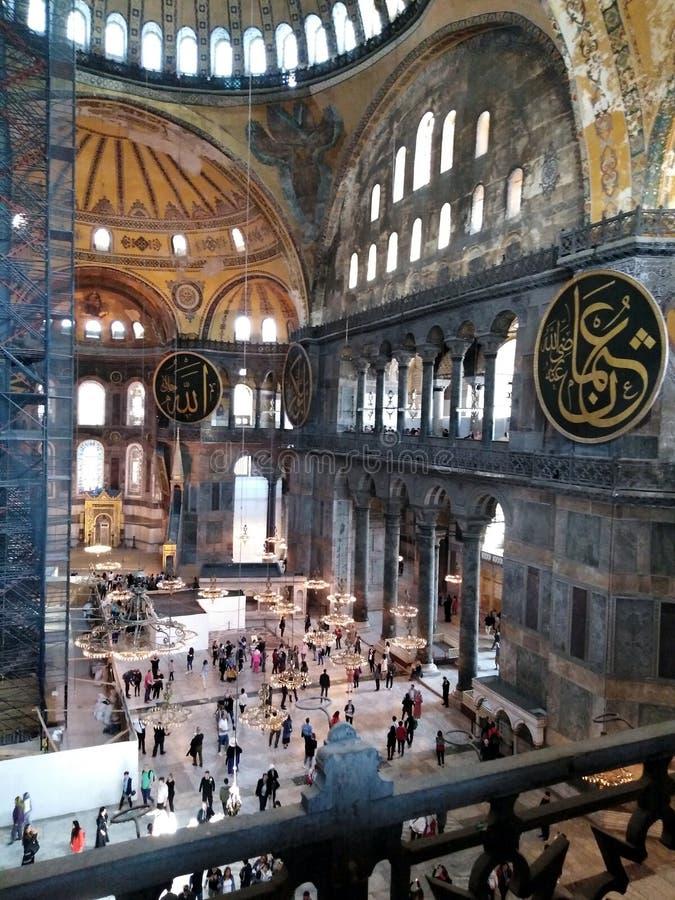 Het Binnenland van Sophia van Hagia stock afbeeldingen