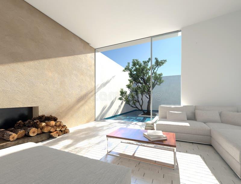 Het binnenlandse decor van een Mediterrane vakantie liet vector illustratie