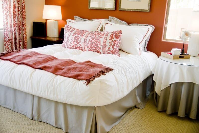 Het binnenlandse ontwerp van de slaapkamer royalty-vrije stock afbeeldingen
