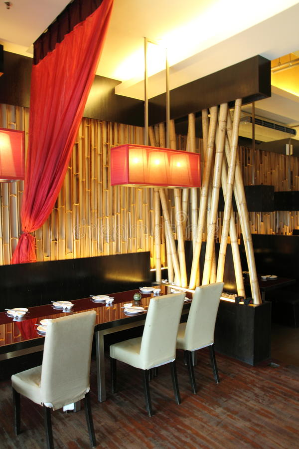 Het Binnenlandse Ontwerp van het restaurant stock fotografie