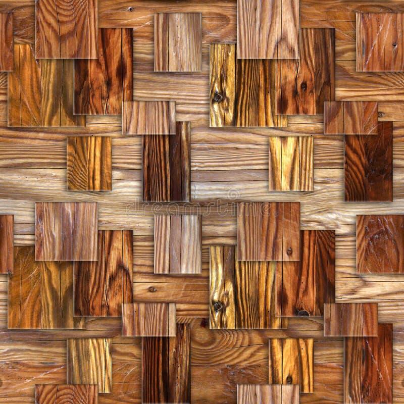 Het binnenlandse patroon van het muurpaneel - decoratief tegelpatroon stock illustratie