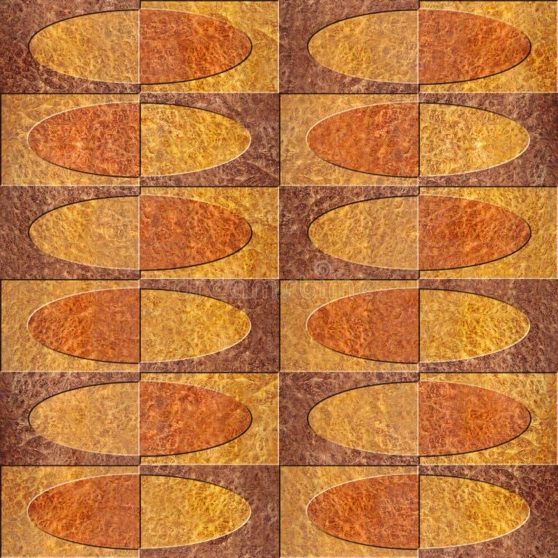 Het binnenlandse patroon van het muurpaneel - naadloze achtergrond - houten textuur stock foto