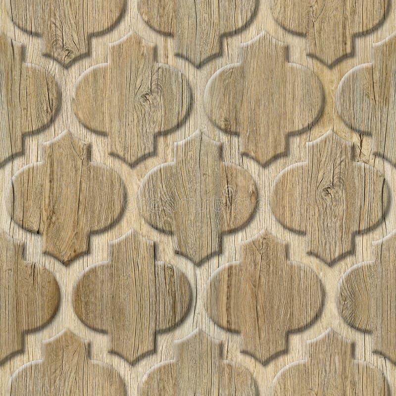 Het binnenlandse patroon van het muurpaneel - abstract decoratiemateriaal - Arabisch decor - geometrische patronen stock foto