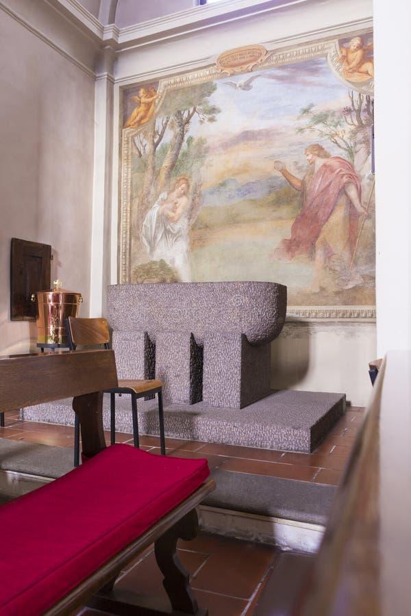 Het binnenlandse schilderen van Chiesa Di San Giorgio stock afbeelding