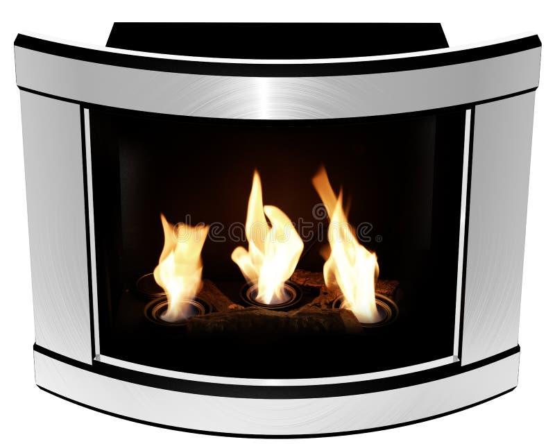 Het bio frame van het open haard convexe staal royalty-vrije stock afbeelding