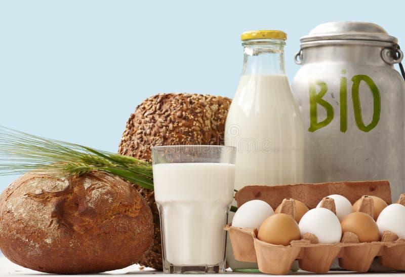 Het bio Voedsel niet de Vertoning van het venster stock foto