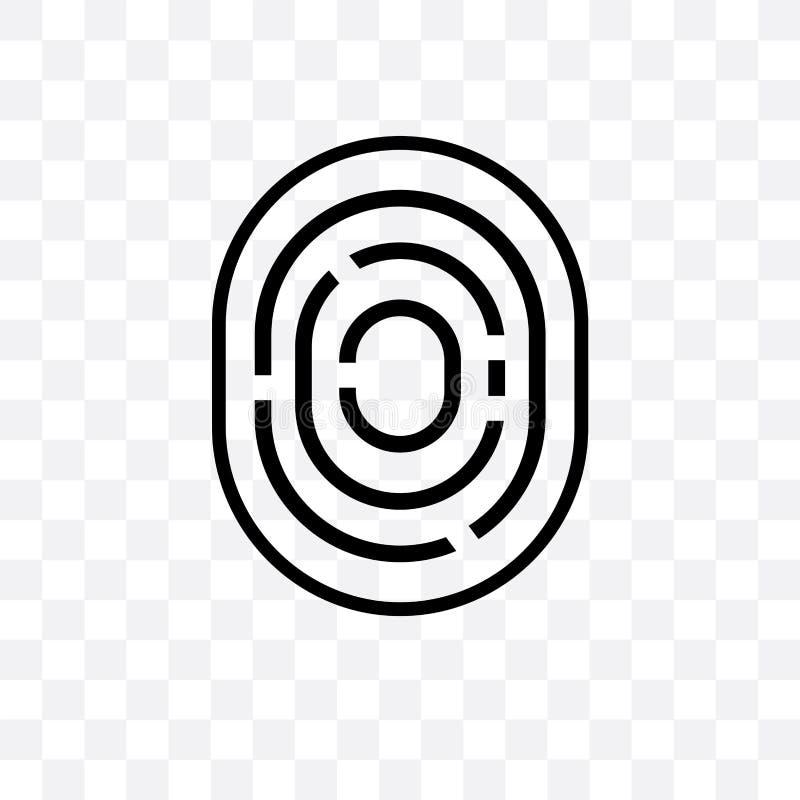 Het biometrische identificatie vector lineaire die pictogram op transparante achtergrond, het Biometrische concept van de identif stock illustratie