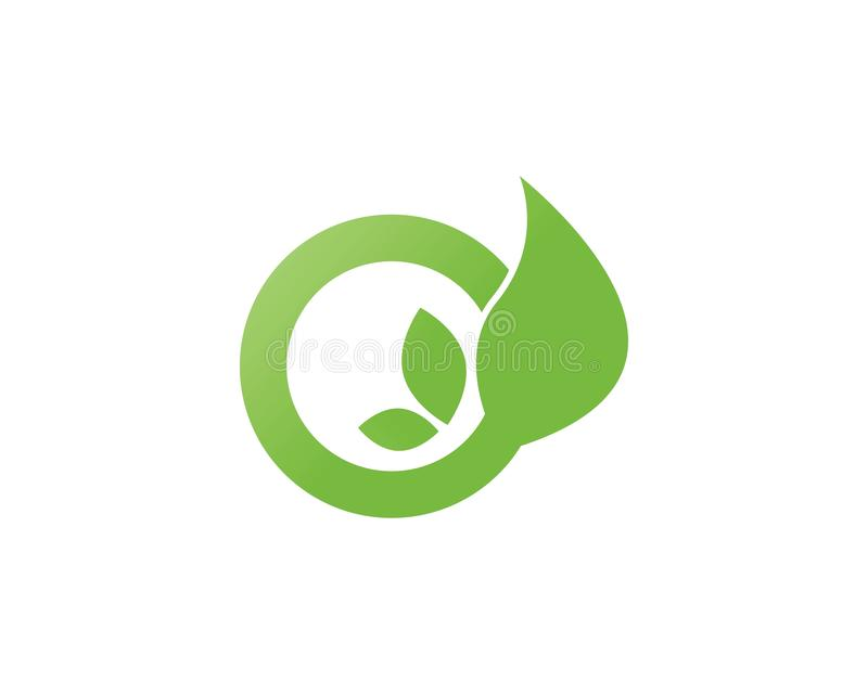 Het Blad Logo Template van de Ecoboom vector illustratie